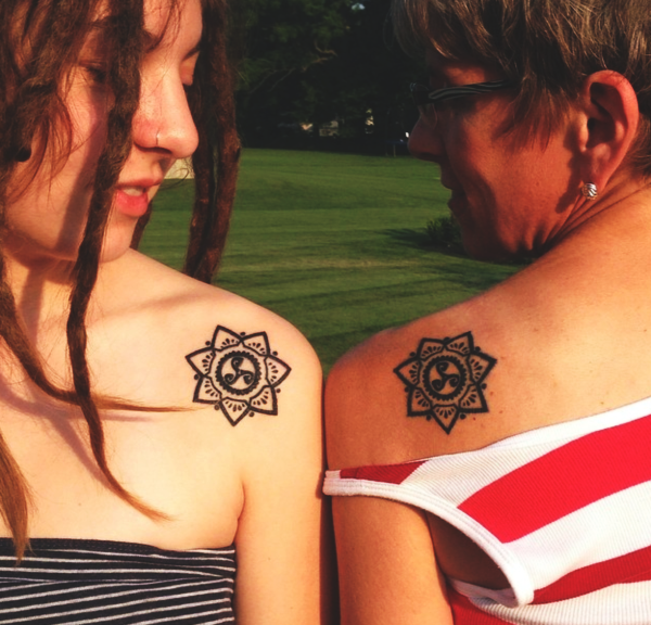 Soulful Mother Daughter Tattoos Design and Ideas