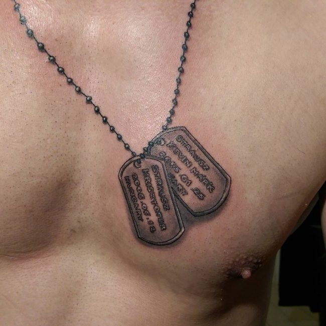 Dog Tag Tattoos Design and Ideas