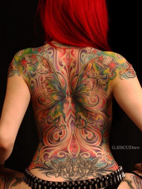 Tastefully Provocative Back Tattoos For Women