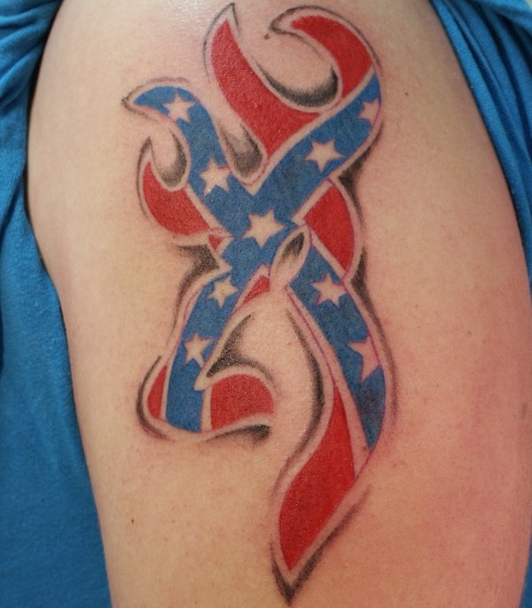 Confederate Flag Deer Tattoo