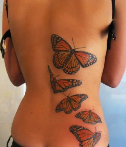 Japanese Butterfly Tattoo Design