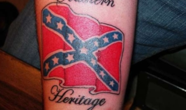 Southern Heritage Confederate Flag Tattoo