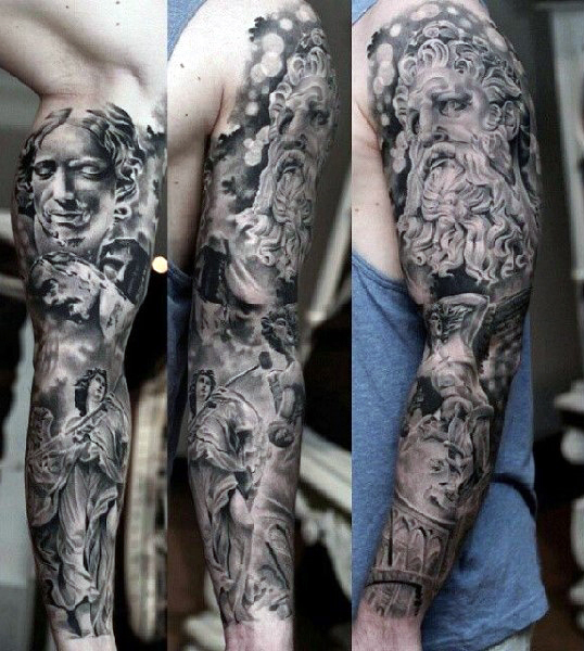 full-sleeve-greek-style-mens-tattoos