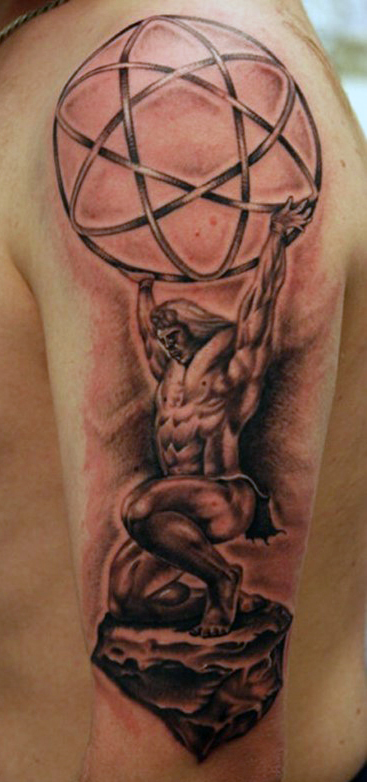 globe-greek-myth-tattoo-for-men