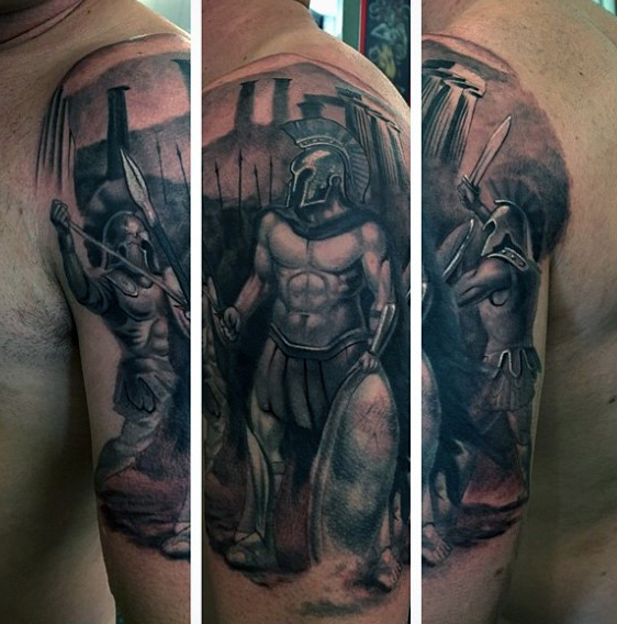 mens-greek-warrior-arm-tattoos