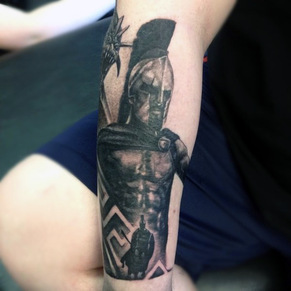 mens-greek-warrior-tattoo-ideas-on-forearm