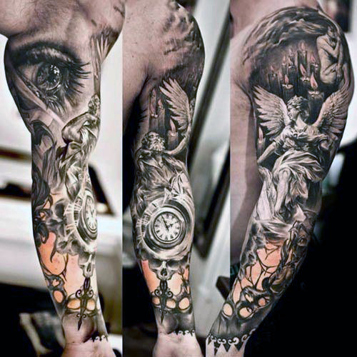 sleeve-ancient-greek-tattoo-designs-men