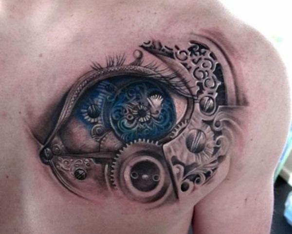 Chest Tattoo 23