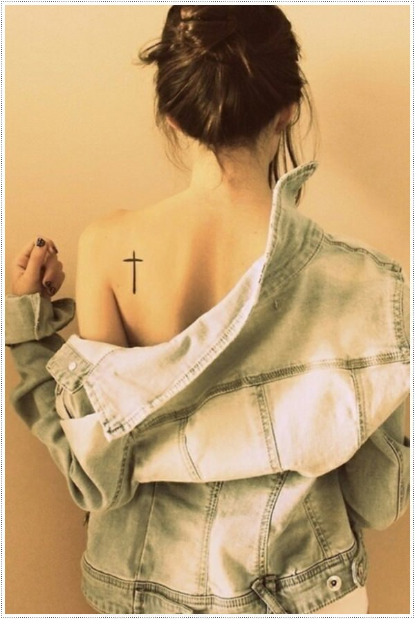 Cross tattoos for girl