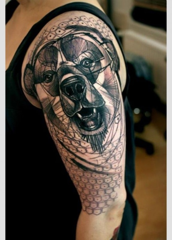 Dog Tattoo Designs 4