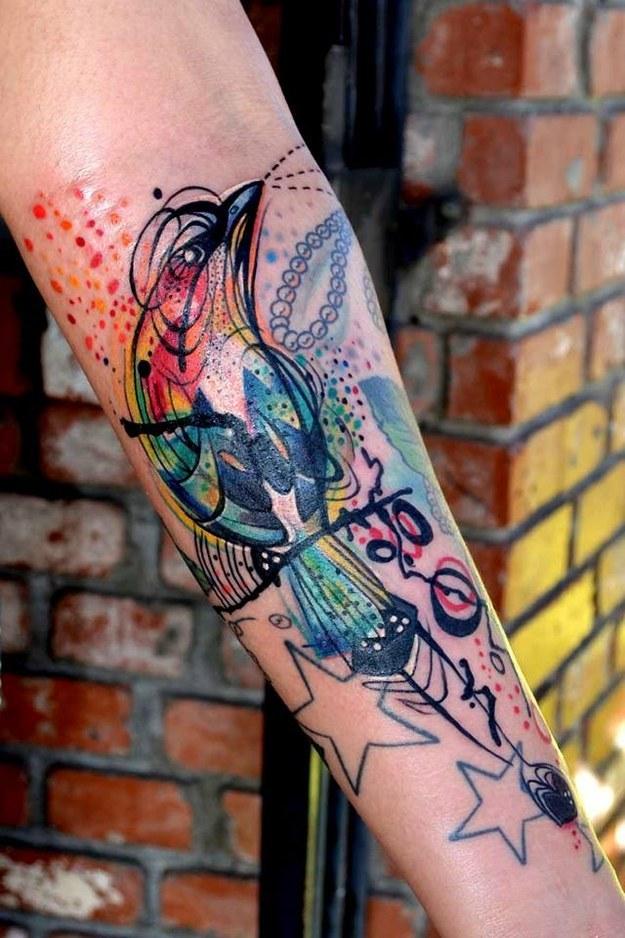 Fabulous Colorful Tattoo Designs