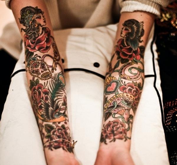 Desenhos de tatuagem de meia manga 31