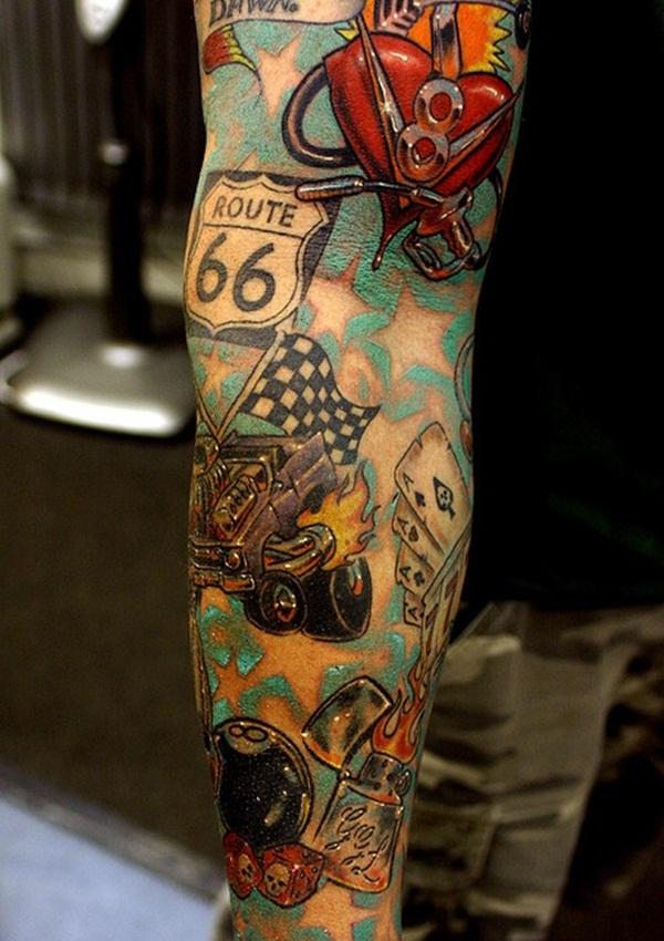 Desenhos de tatuagem de meia manga 33