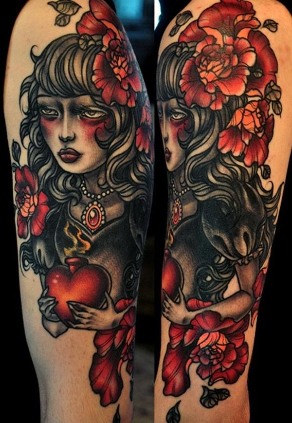 Desenhos de tatuagem de meia manga 4