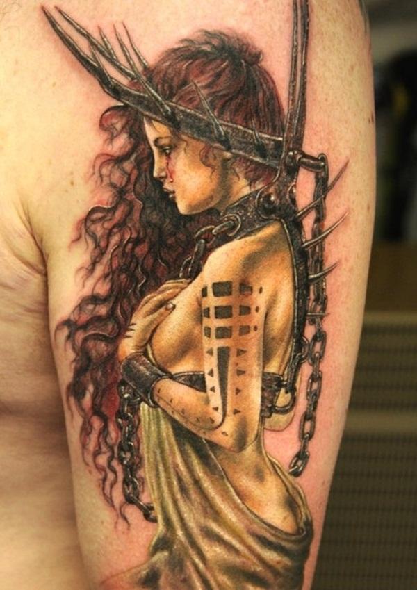 Desenhos de tatuagem de meia manga 41