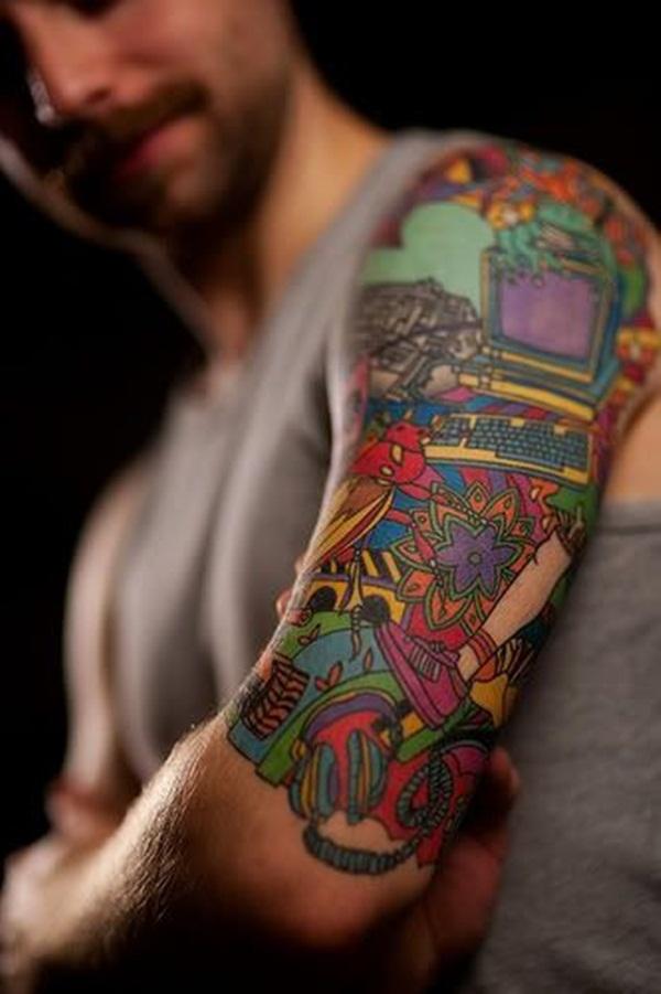 Desenhos de tatuagem de meia manga 7