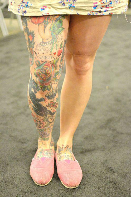 Insanely Hot Leg Sleeve Tattoos 24
