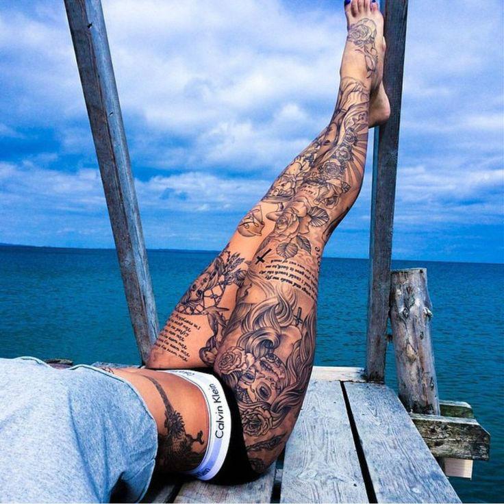 Insanely Hot Leg Sleeve Tattoos