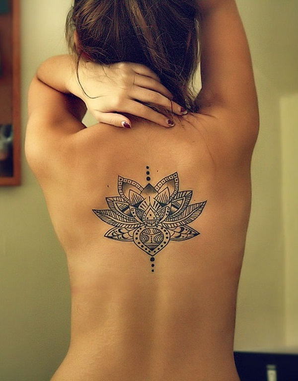 Lotus flower tattoos for girl