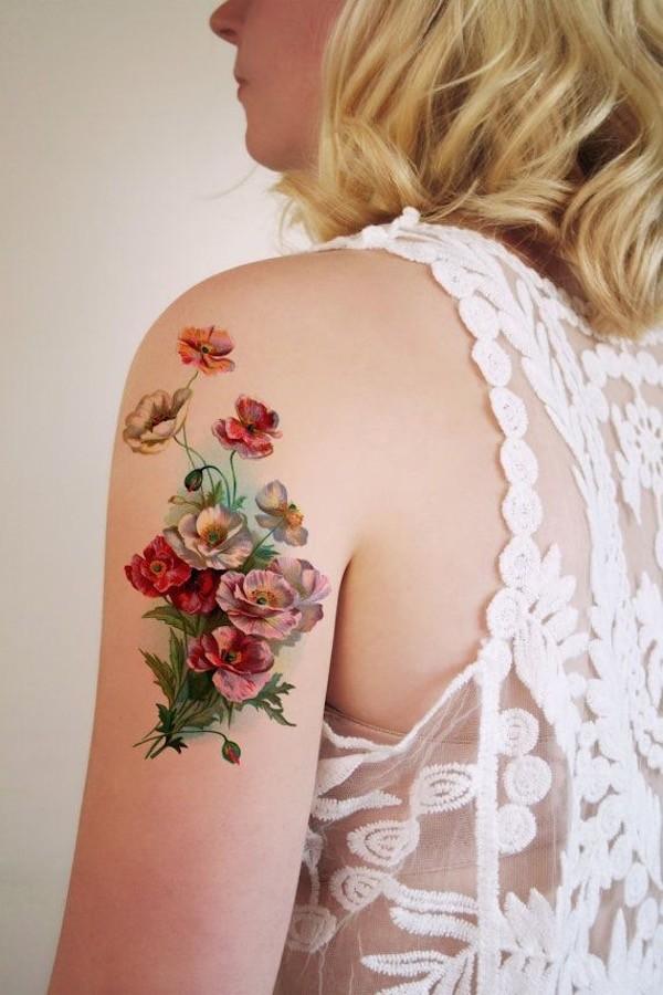 Lovely Flower Tattoo Ideas 13