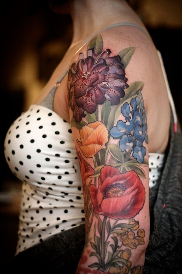 Lovely Flower Tattoo Ideas 14