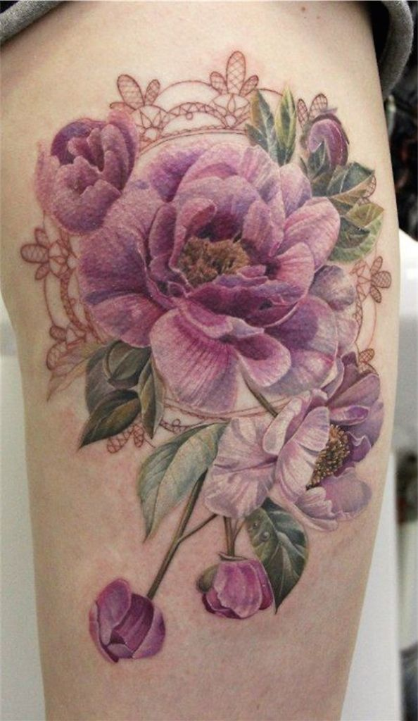 Lovely Flower Tattoo Ideas 21