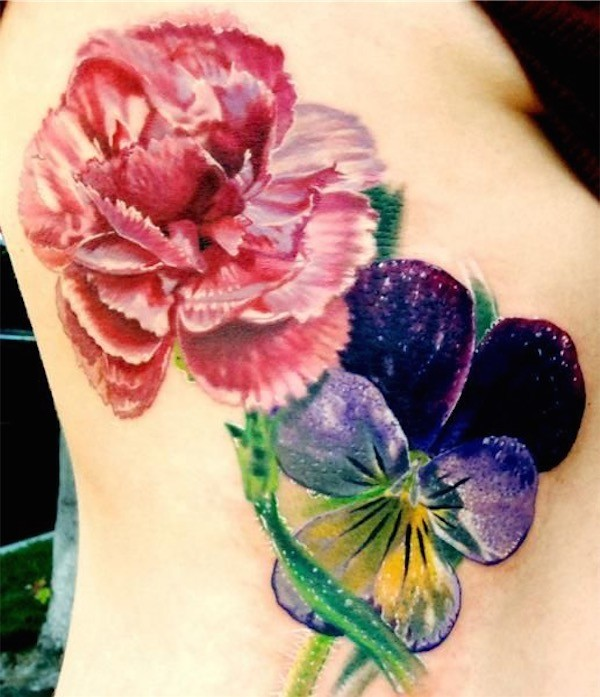 Lovely Flower Tattoo Ideas 33