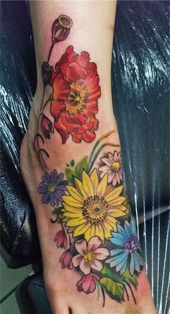 Lovely Flower Tattoo Ideas 35