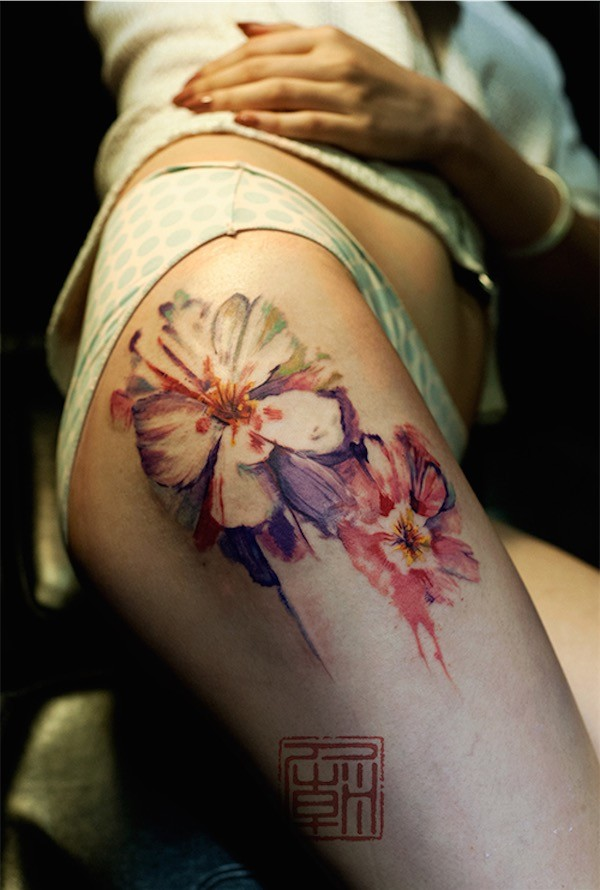 Lovely Flower Tattoo Ideas 40