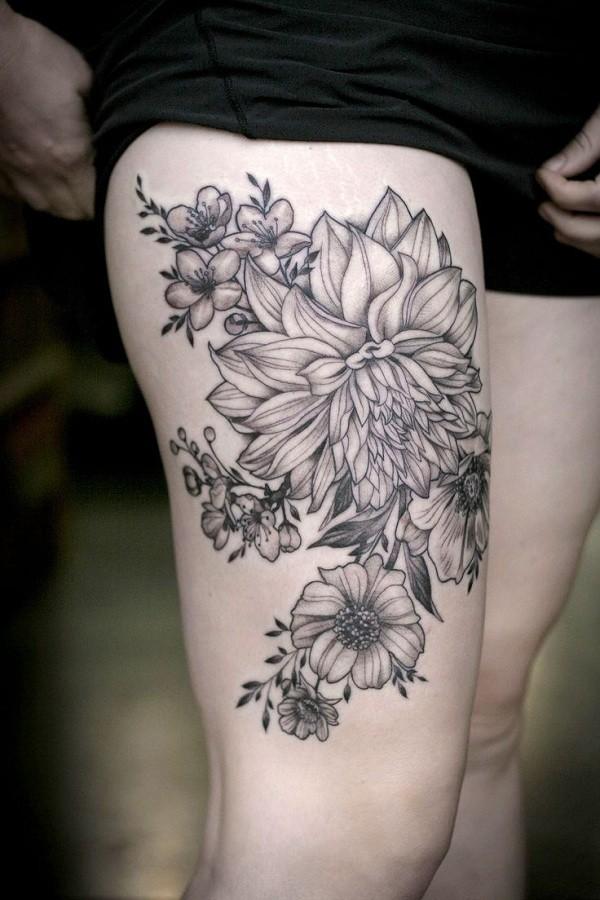 Lovely Flower Tattoo Ideas 53