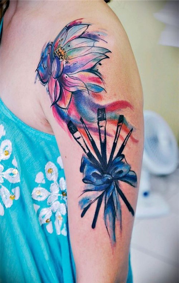 Lovely Flower Tattoo Ideas 54