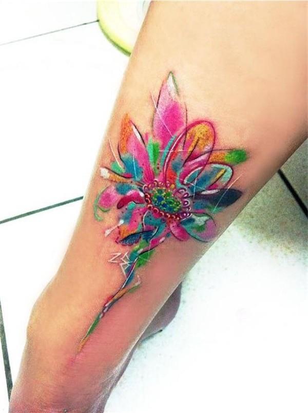 Lovely Flower Tattoo Ideas 58