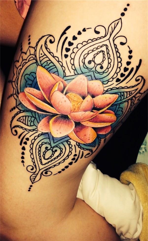 Lovely Flower Tattoo Ideas 9