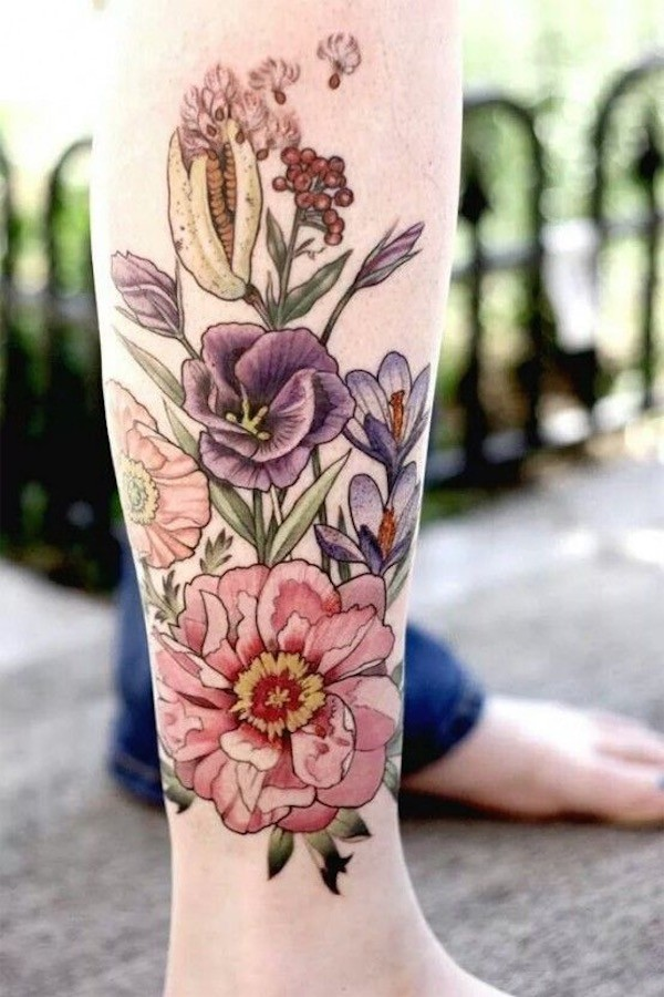 Lovely Flower Tattoo Ideas