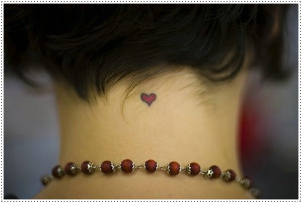 Small heart tattoos for girl