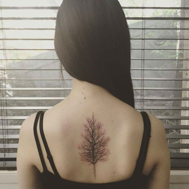 Upper Back Tattoos for Women 1