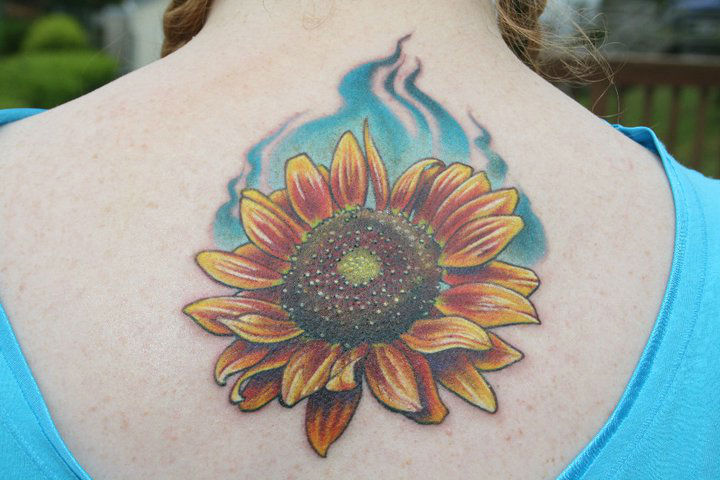 20+ Warm Sunflower Tattoo Designs