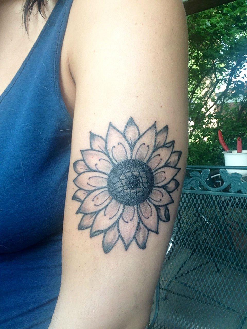 Warm Sunflower Tattoo Designs 4