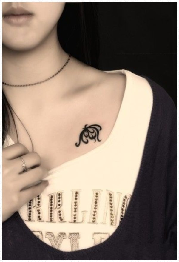 stylish tattoos for girls on chest
