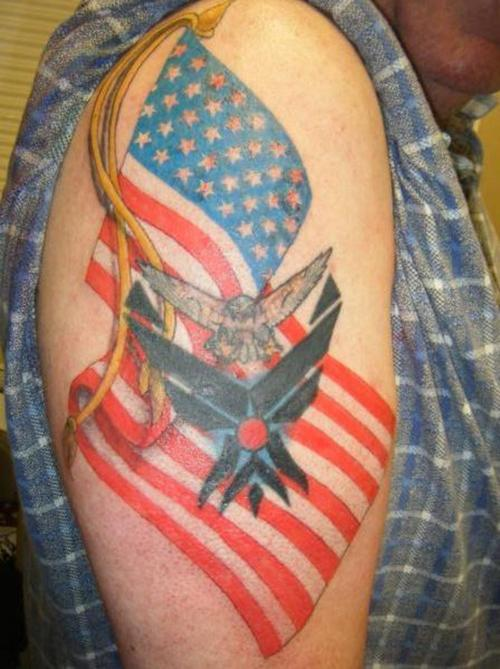 Best American Tattoo Ideas for men on shoulder