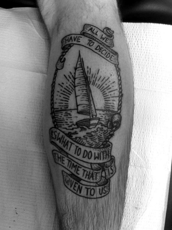 Boat Tattoo Designs 10