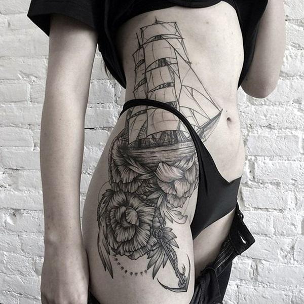 Boat Tattoo Designs 12