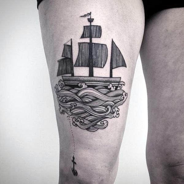 Boat Tattoo Designs 17