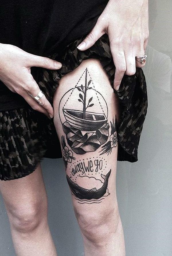 Boat Tattoo Designs 21