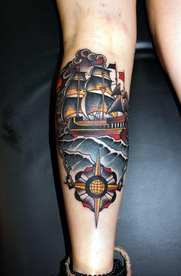 Boat Tattoo Designs 24