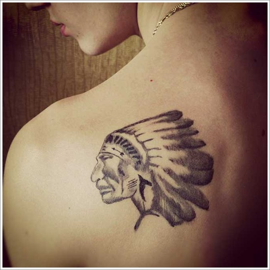 Native American Tattoo Design for Women on shoulder