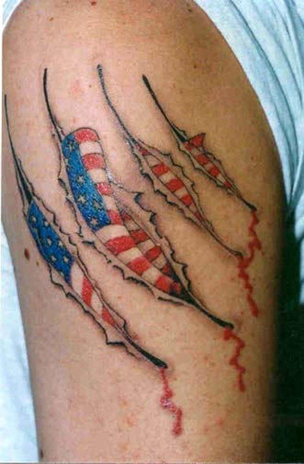 Scratch American Tattoo Idea