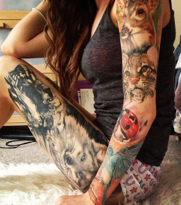 Stimulating Thigh Tattoos 1