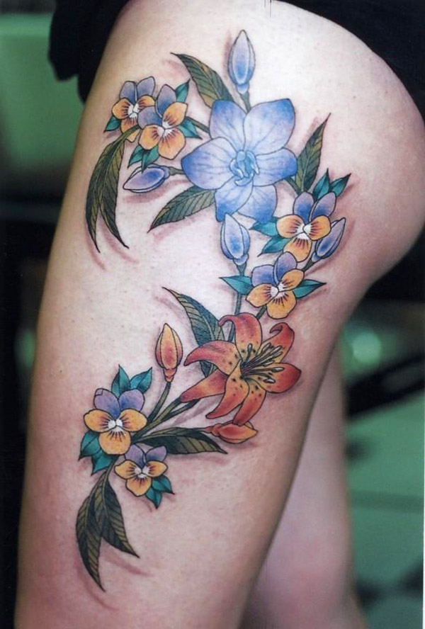 Stimulating Thigh Tattoos 24