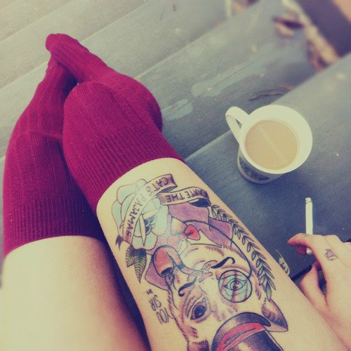 Stimulating Thigh Tattoos 60